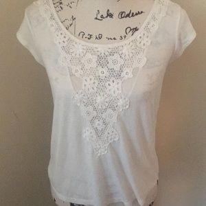 American Eagle lacey cream colored top
